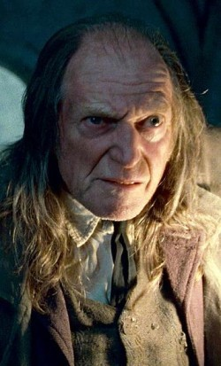 What was Filch last seen doing at the end of HP7-2 (movie)?