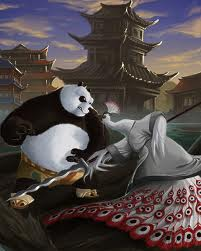 What happend to po when he got hit oleh the steel from Shen's dragon in the first place?