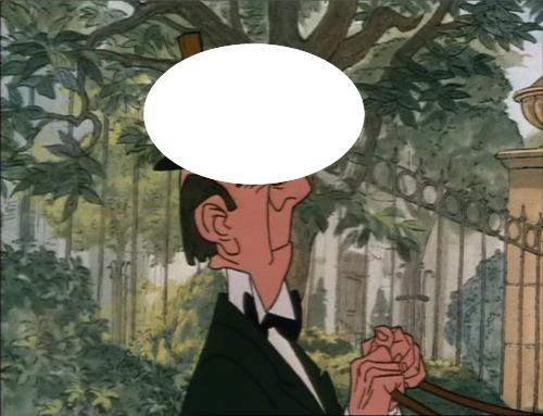 Who is on Edgar's head ?