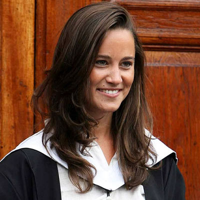 Pippa graduated college from St. Andrews just like her sister, Kate.
