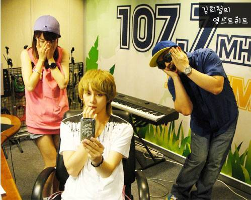 Who replaced Heechul's radio programme after he quits to serve for military?