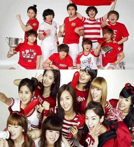 who are model in snsd and super junior???