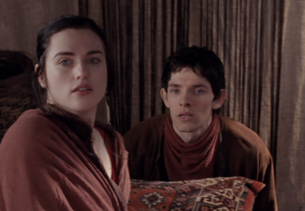 What is the first thing Morgana says to Merlin in series 2?