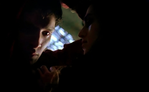 What is the first thing Morgana says to Merlin in series 4?