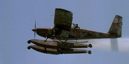 What type of aircraft is this, that was used during the making of Waterworld?.