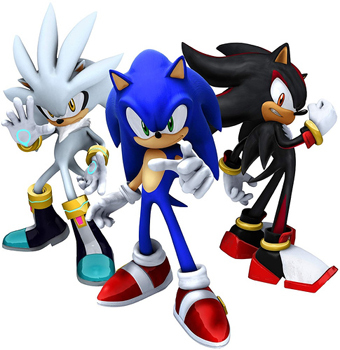 What are the names of Sonic, Shadow, and Silver's heartless forms?