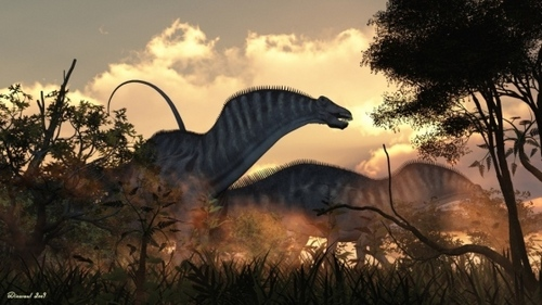 What geologic era did Dinosaurier exist?