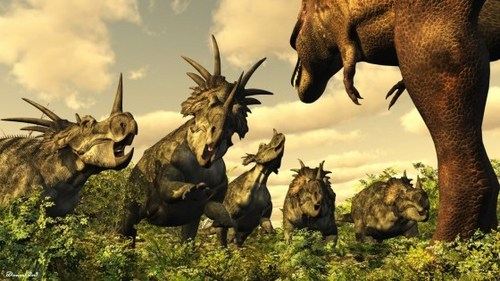 Dinosaurs are divided into two traditional orders according to...