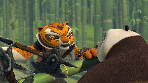 In the episode Chain Reaction what does Tigress tell Po she does not do