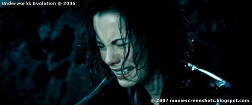 Why is Selene crying?