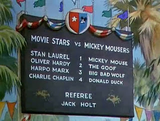 Which movie nyota rides an ostrich instead of a horse in the 1936 Disney cartoon Mickey's Polo Team?