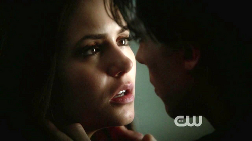 Damon says 'goodnight' to Elena in this scene.