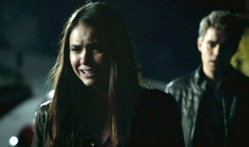 """Stefan: """"----- is all I have left."""" Elena: """"You had ME!"""""""
