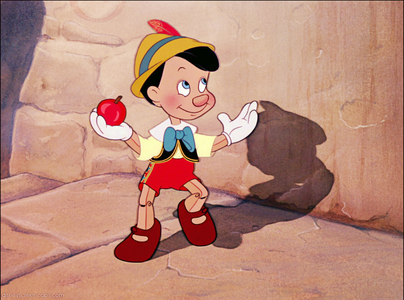 Pinocchio is a fictional character created door