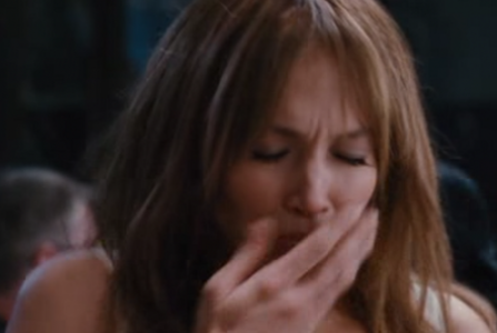 If you follow Jennifer Lopez movies, what is she about to do in this picture?