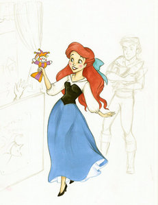 What was the name of the puppet that Ariel grabbed while hanging out with Eric?
