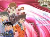 What were the two english names of the Detective conan's two valentine days?
