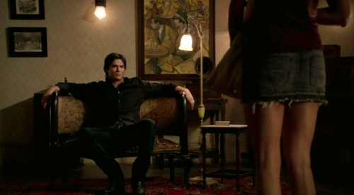 """Get dressed! You're all road-trippy and gross!"" Damon says to Elena in ?"