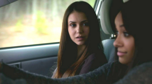 "Bonnie: ""I mean, was it good?"" How does Elena respond when asked about kissing Damon?"
