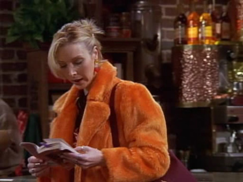 In Tow Ross's sandwhich, Phoebe is in the coffee house reading a classic book for her literature class. Which book is it?