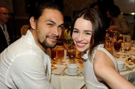 In which series that Jason starred in did actress Emilia Clarke play his wife?