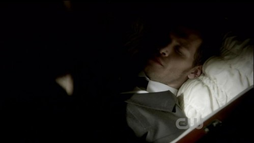 In episode The New Deal Bonnie had a dream about Klaus in a coffin. 