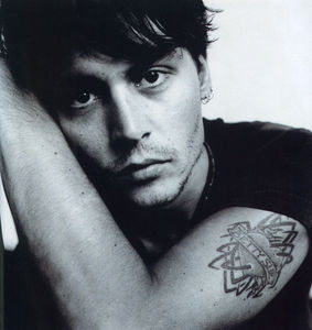 Johnny Depp accidently set his face on fire...