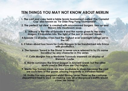In what language does merlin summon the dragin with?