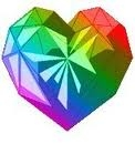 How many points does Vanila and Chocolat gets if they picked a rainbow coloured heart?
