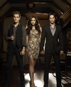 In the Vampire diaries, who does elena first meet?