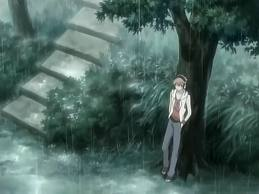 Where does Hikaru find Haruhi after Tamaki gives his a call? (in episode 16)