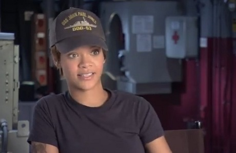 What is the name of the character that Rihanna is going to be in 'BattleShip'?