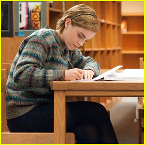 In her new film, The Perks of Being a Wallflower, what is the name of her character?