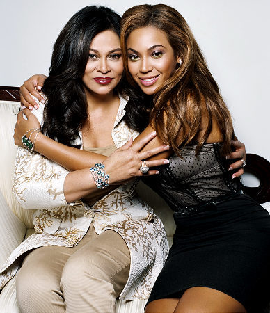 Why did Tina Knowles choose for 비욘세 her name?