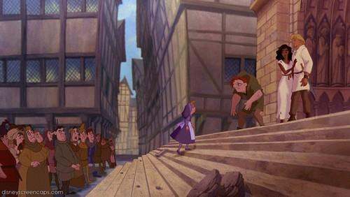 In Victor Hugo's novel, what happens to Esmeralda and Quasimodo?