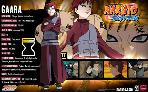 What is Gaara's hobby? look at photo.
