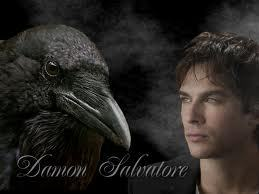 In the book how many times does Elena see Damon as a crow?