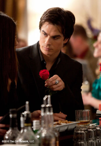 A rose from Damon to?