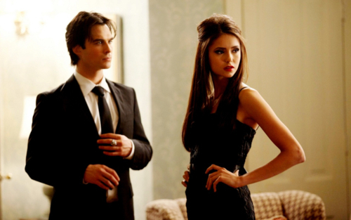 With Elena or Katherine??