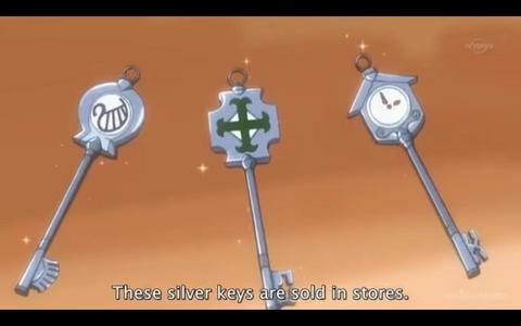 From the picture, what is the correct name of celestial spirit key? (from left to right)