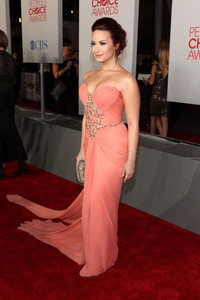 what award is Demi Lovato, in this pictur?