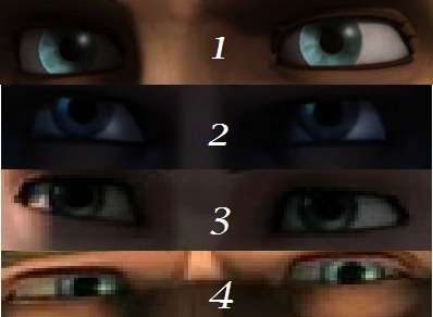 Which pair of eyes are Anakin's?