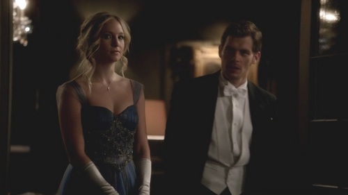 The first thing Caroline said to him in this scene: