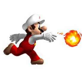 Which Mario enemy cannot be killed by fireballs?