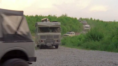 Leaving the quarry (camp site), how many vehicles Drove towards the CDC?