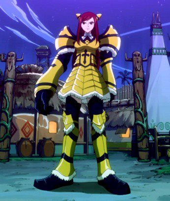 Where did Erza used her Giant Armor?