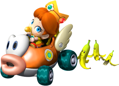 How many times does Baby 雏菊, 黛西 come in the Mario Kart series?