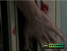 How many times did Shane rub his hand on the bus Door Frame?