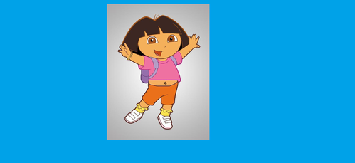 Do you ever see Dora the Explorer's bellybutton on merchandises?