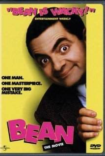 "In the movie ""Bean"" where does Mr.Bean go?"